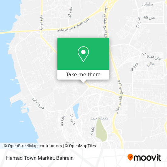Hamad Town Market map