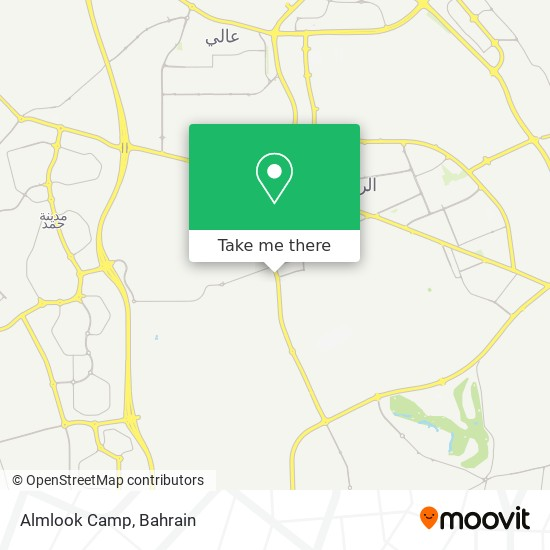 Almlook Camp map