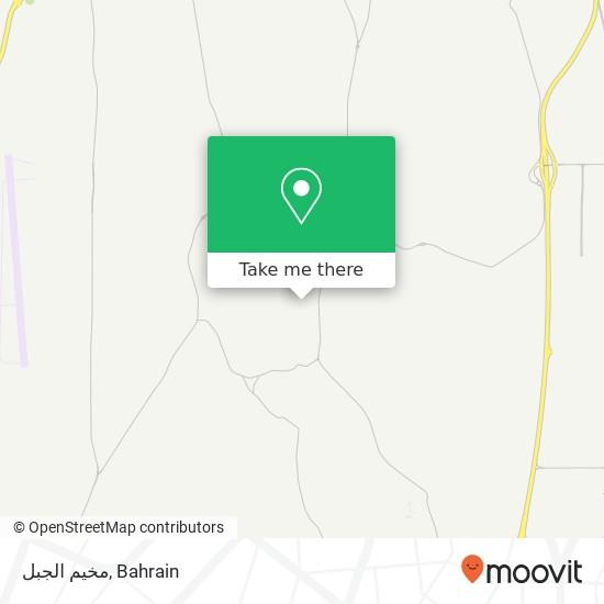 مخيم الجبل map