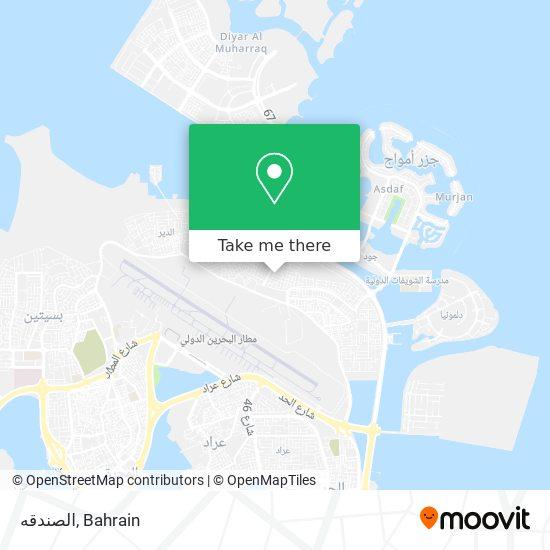 الصندقه map