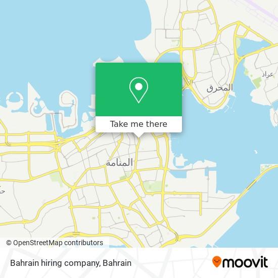 Bahrain hiring company map