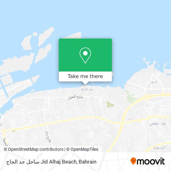 ساحل جد الحاج Jid Alhaj Beach map