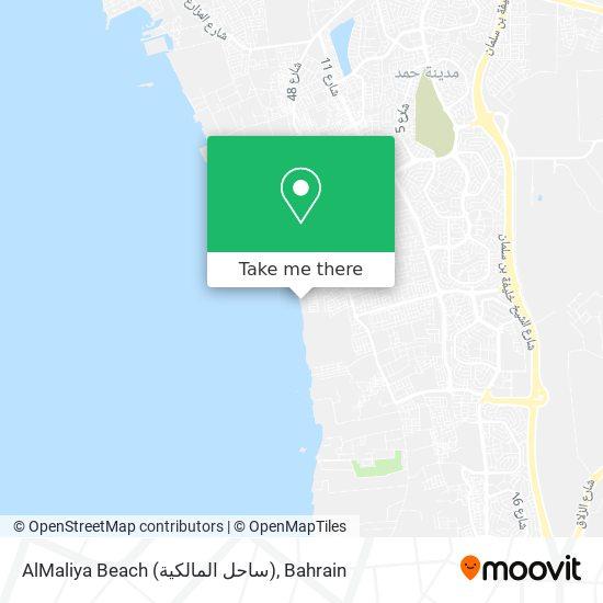AlMaliya Beach (ساحل المالكية) map