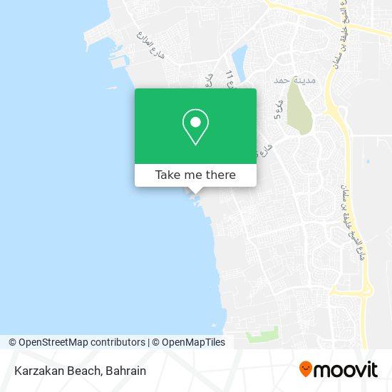 Karzakan Beach map