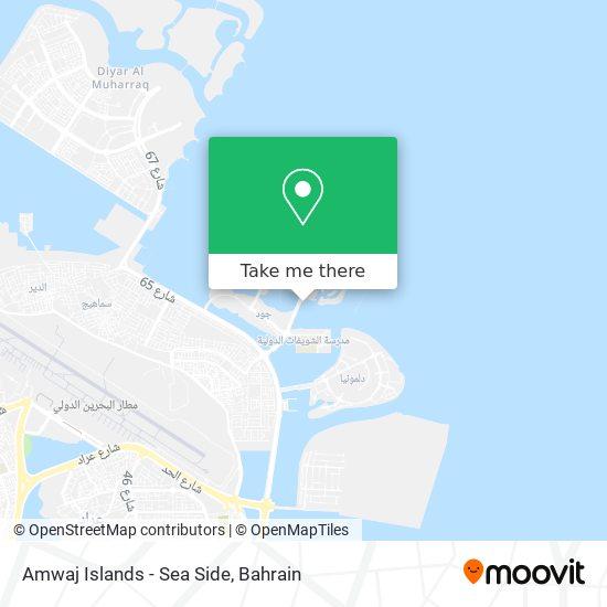 Amwaj Islands - Sea Side map