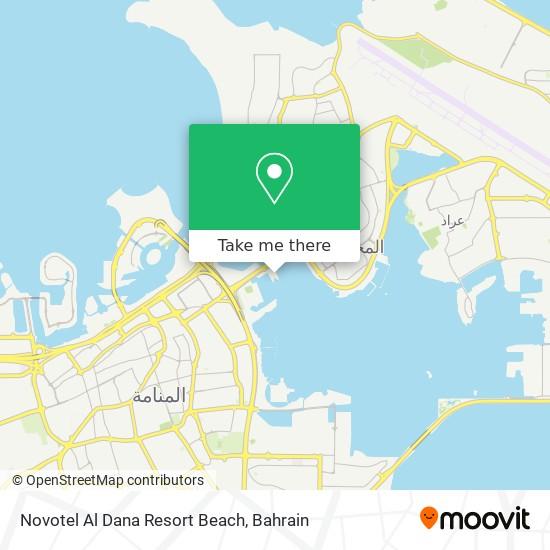 Novotel Al Dana Resort Beach map