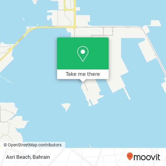 Asri Beach map
