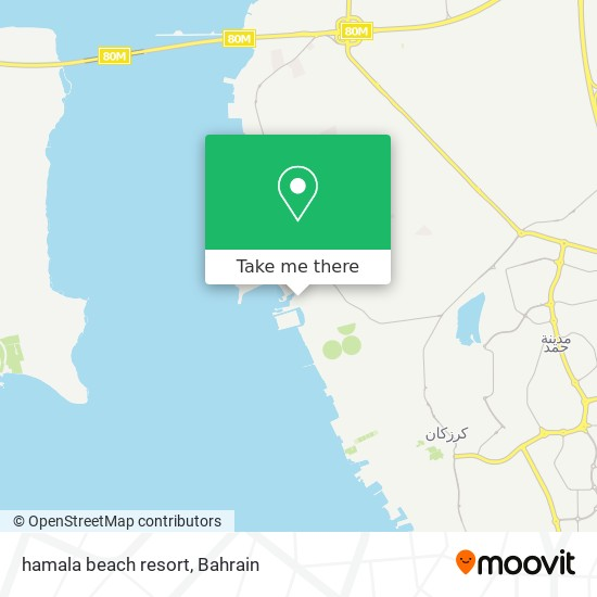 hamala beach resort map