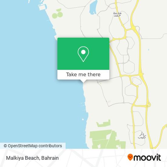 Malkiya Beach map