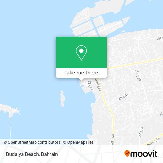Budaiya Beach map