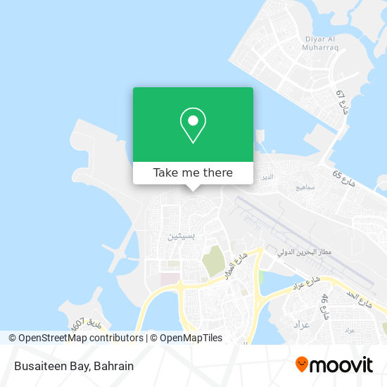 Busaiteen Bay map