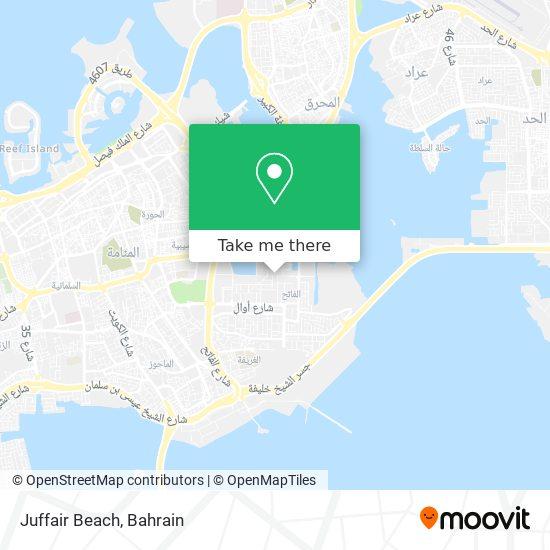 Juffair Beach map