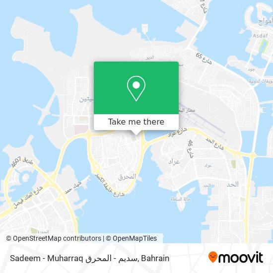 Sadeem - Muharraq سديم - المحرق map