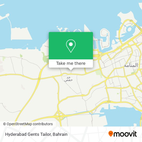 Hyderabad Gents Tailor map