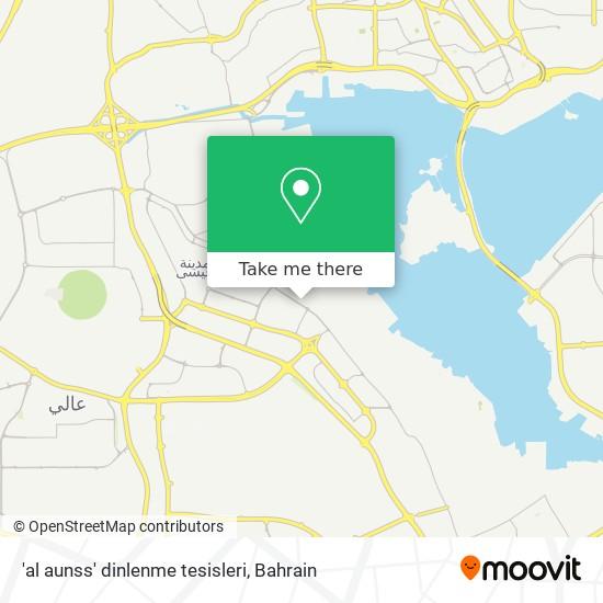 'al aunss' dinlenme tesisleri map