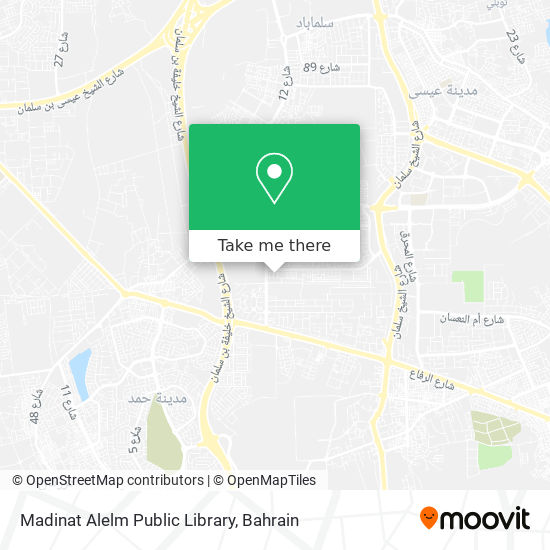 Madinat Alelm Public Library map