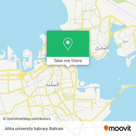 Ahlia university liabrary map