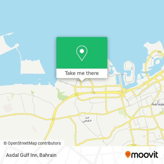 Asdal Gulf Inn map
