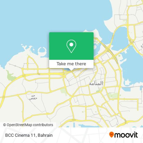 BCC Cinema 11 map