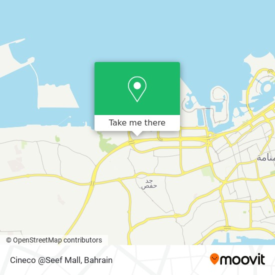 Cineco @Seef Mall map