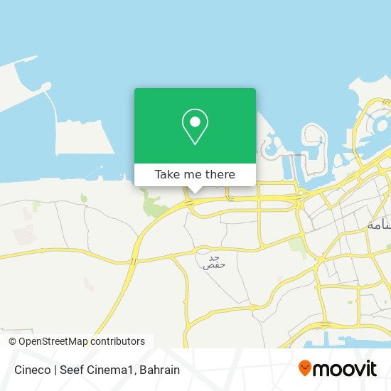 Cineco | Seef Cinema1 map