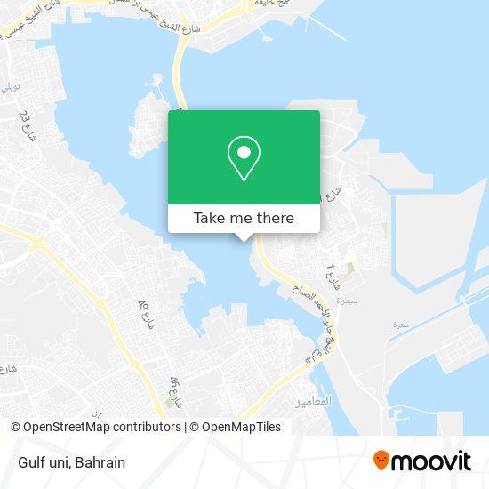 Gulf uni map