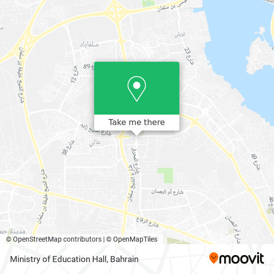 Ministry of Education Hall map