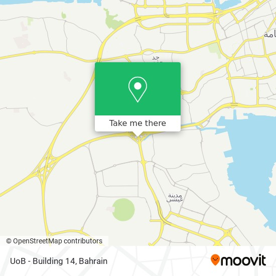 UoB - Building 14 map