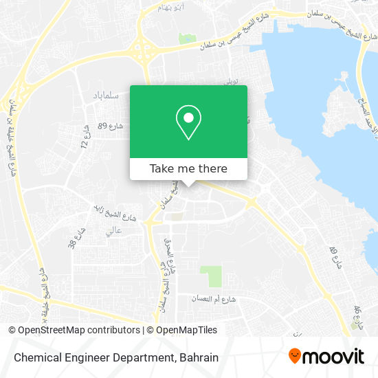 Chemical Engineer Department map