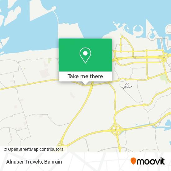 Alnaser Travels map