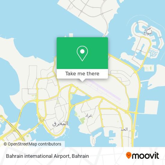 Bahrain intemational Airport map