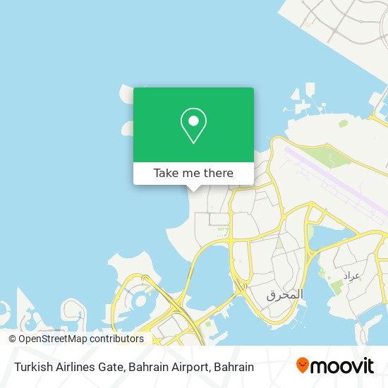 Turkish Airlines Gate, Bahrain Airport map