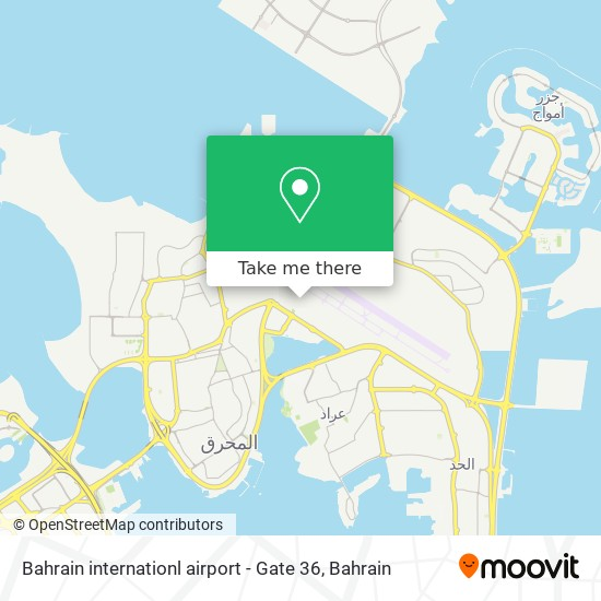 Bahrain internationl airport - Gate 36 map