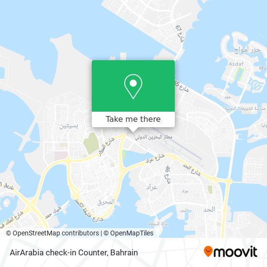 AirArabia check-in Counter map