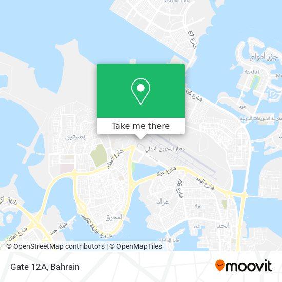 Gate 12A map