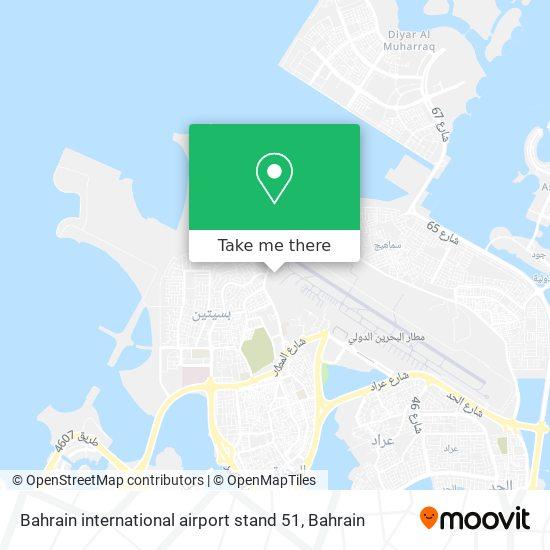 Bahrain international airport stand 51 map