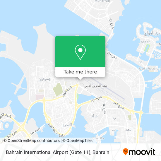 Bahrain International Airport (Gate 11) map