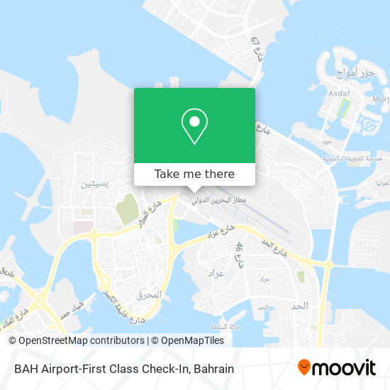 BAH Airport-First Class Check-In map