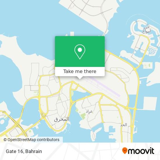 Gate 16 map