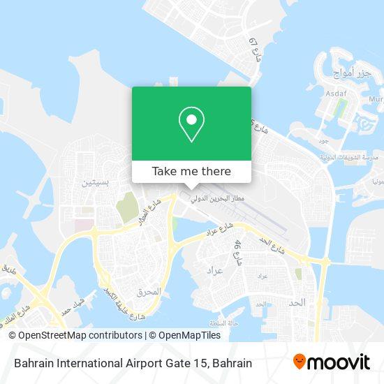Bahrain International Airport Gate 15 map