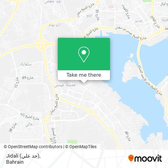 Jidali (جد علي) map