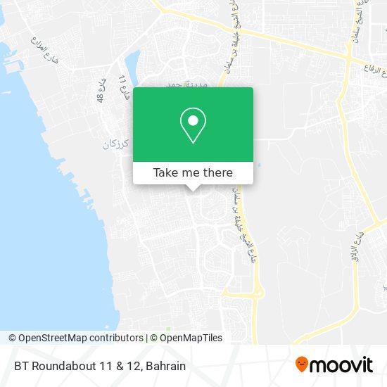 BT Roundabout 11 & 12 map