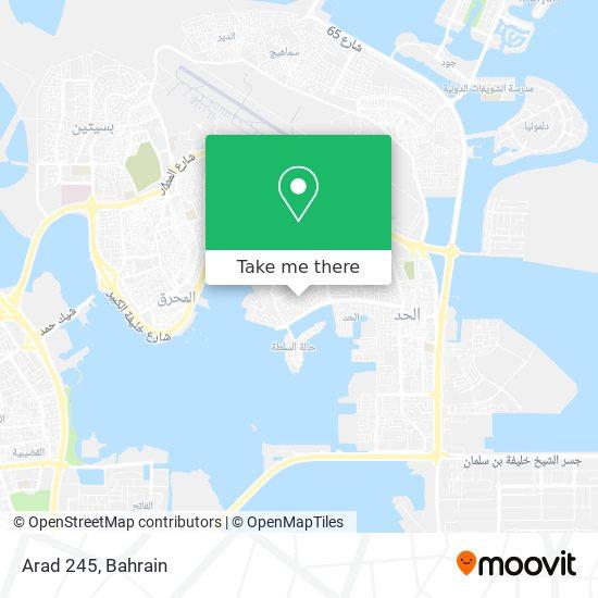 Arad 245 map