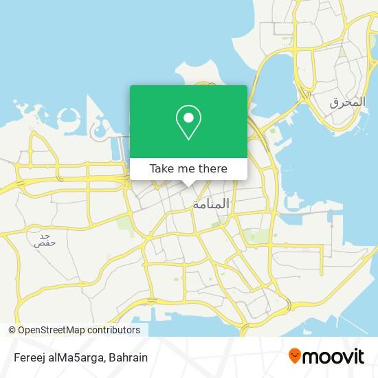Fereej alMa5arga map