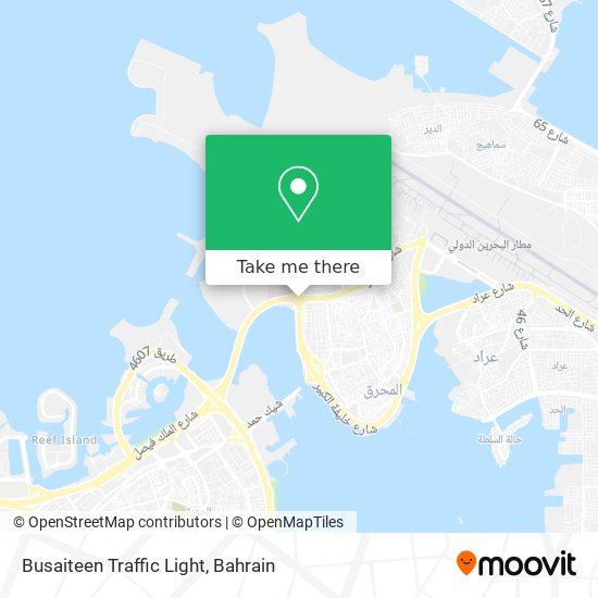 Busaiteen Traffic Light map