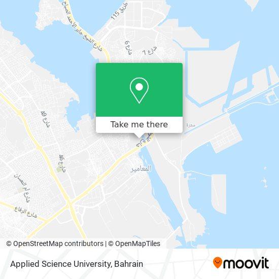 Applied Science University map