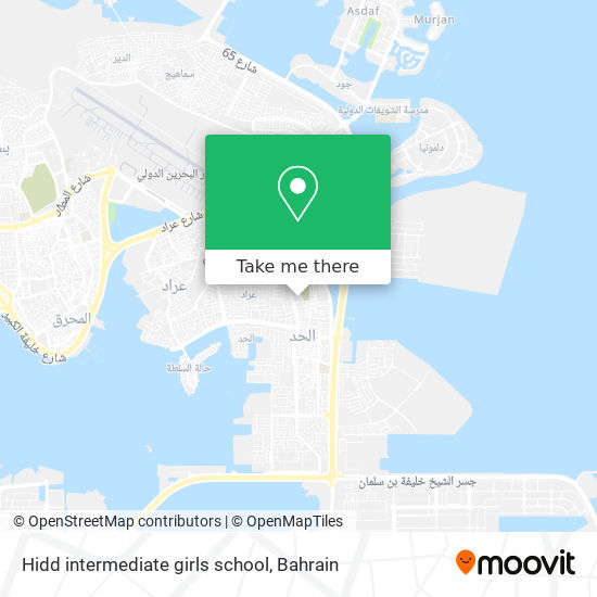 Hidd intermediate girls school map