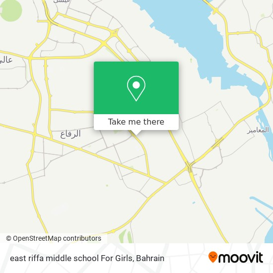 east riffa middle school For Girls map