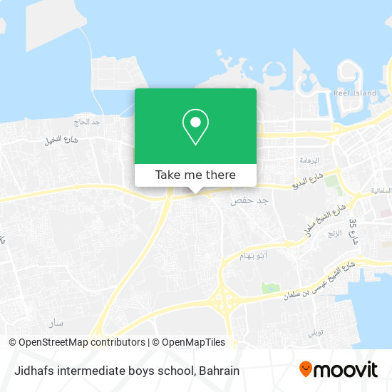Jidhafs intermediate boys school map