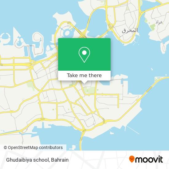 Ghudaibiya school map